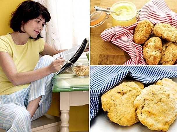 Varma scones till frukost