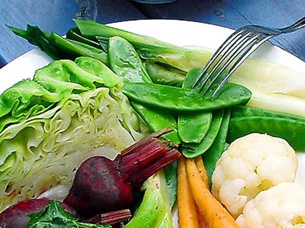 Varmt grönsaksfat