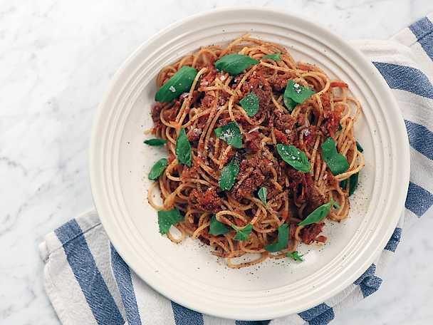 Vegansk pasta bolognese, Siri Barjes recept