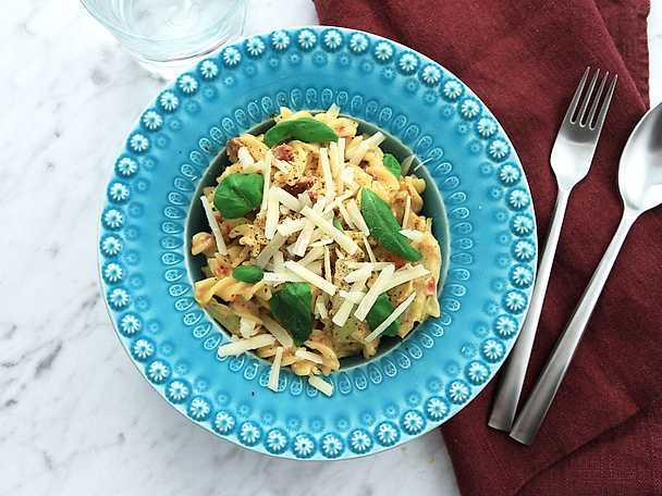 Vegansk pasta - se & gör