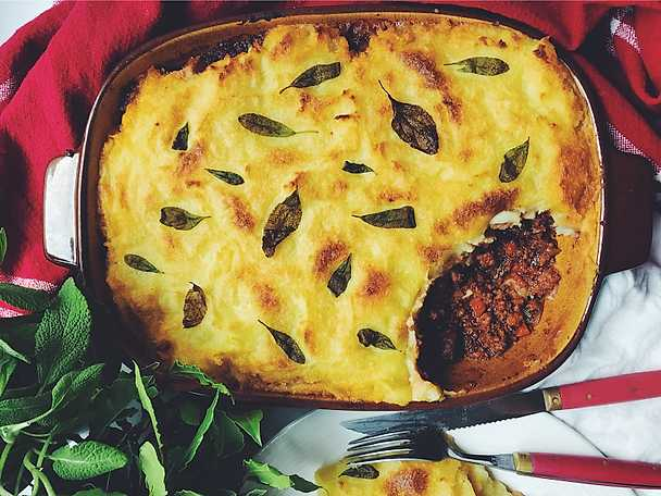 Vegansk Shepards Pie, Siri Barjes recept