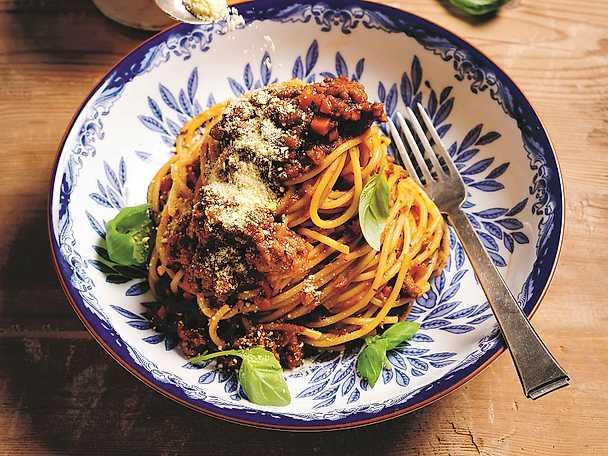 Vegansk spagetti med köttfärssås