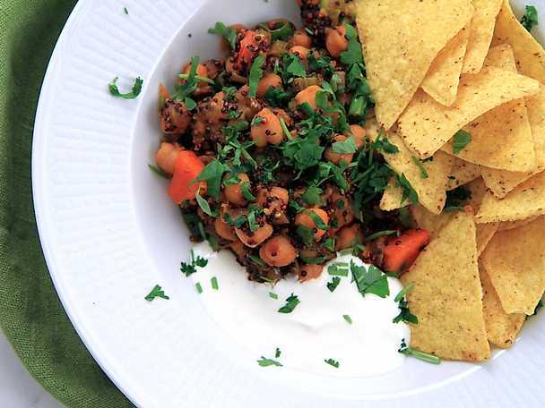 Vegetarisk chiligryta med chipotle