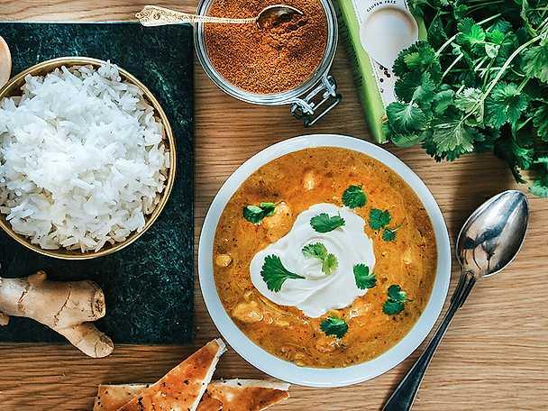 Vegetarisk indisk gryta