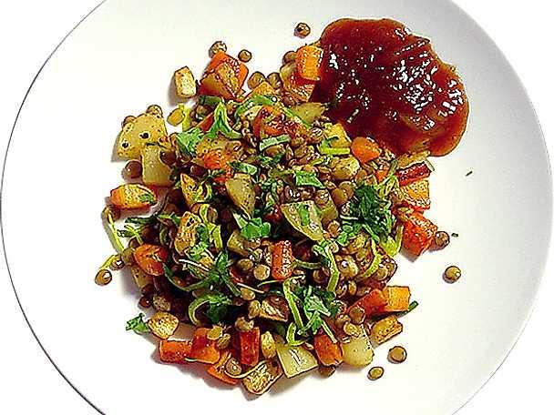 Vegetarisk pytt med linser