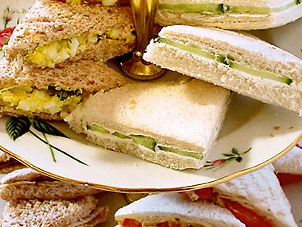 Vegetariska engelska sandwiches