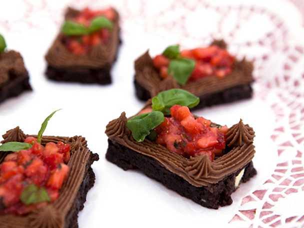 Veronicas browniebakelse med jordgubbar