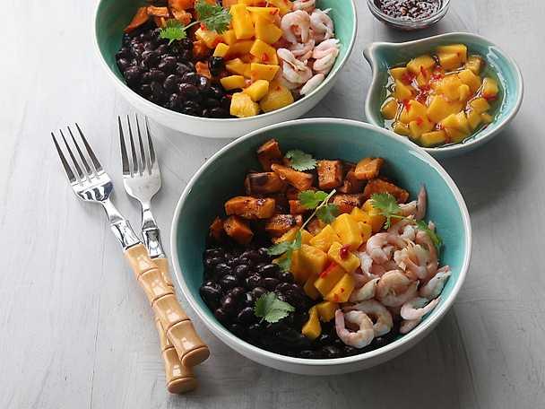 Viktväktarna Asiatisk bowl med räkor, bönor och limesyrad mango