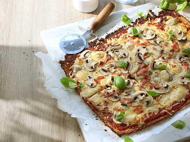 Viktväktarna Blomkålspizza med skinka och svamp