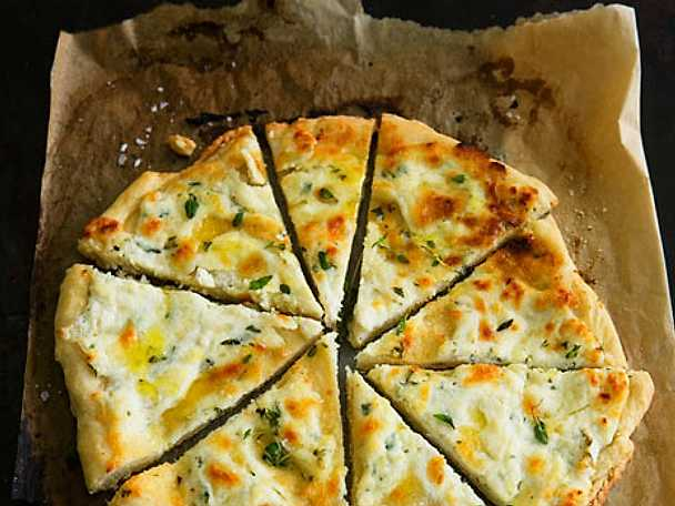 Vit pizza med ricotta