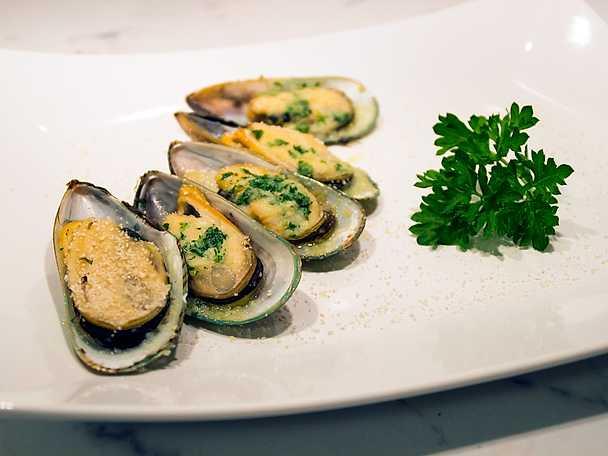 gröna musslor recept
