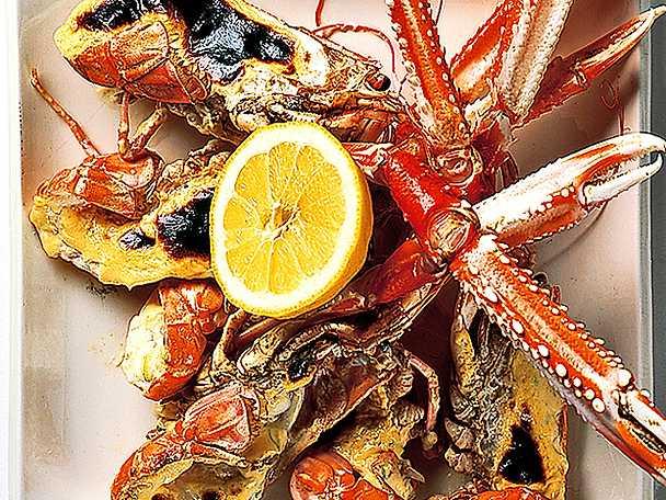 Vitlöksgratinerade havskräftor