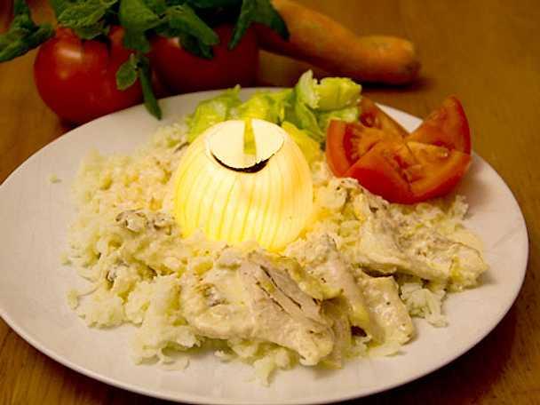 Vitlökskryddad kyckling med kärlekskokt ris