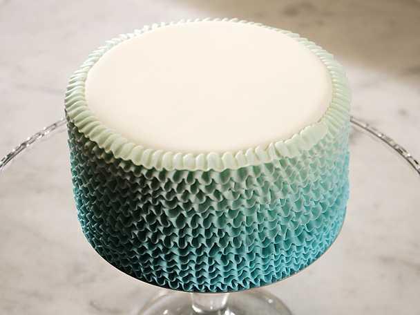Volangbård till tårta - se & gör
