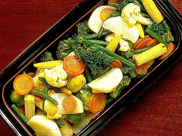 Wokade grönsaker till jul
