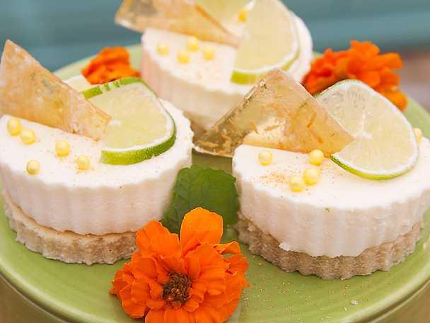 Yinbakelse med vit choklad och citronmousse