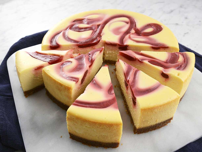 cheesecake med hallon och vit choklad