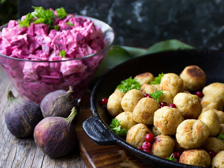 vegetariska köttbullar nötter