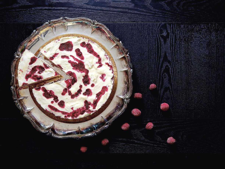 frozen cheesecake hallon vit choklad