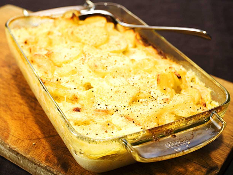 potatisgratäng med förkokt potatis