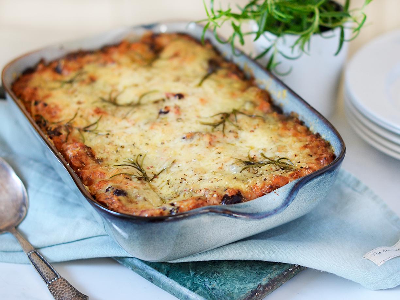 god enkel vegetarisk lasagne