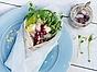 Abba Somrig matjeswrap med krispig pak choi och lingonchutney