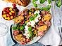 Antipasti med mozzarella, prosciutto och bruschetta
