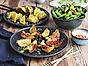 Beijing Dumplings med marinerade edamamebönor och chilimajo