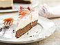 Kladdkaka med rabarbercheesecake