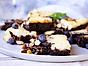 Philadelphia Brownie med rostad mandel och cheesecakeswirl