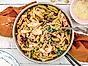 Toscansk pasta med soltorkade tomater och lax