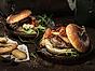 Vegetarisk portabelloburgare