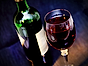 Vin artikel glas och flaska